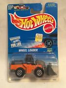 1997 Hot Wheels 641 Wheel Loader Orange, Black And Gray W/orct Construction Tires