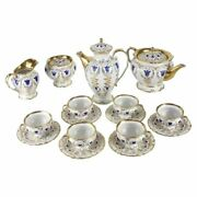 19th Century Porcelain Tea And Coffee Service For Six By K.p.m.