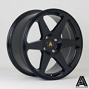17 Autostar Chaser Alloy Wheels And Tyres 4x108 Black Fits Ford Fiesta Inc St