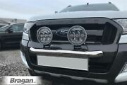 Front Bumper Spotlight Bar + Leds For Isuzu D-max 12 - 16 Stainless City Nudge