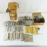 Lot Vtg 1 Gang Light Switch Covers Plus Plug Outlets Stainless Steel Diamond Nos