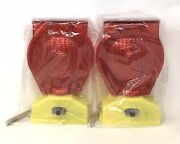 2-pk Type-a/c Dual Function Solar Powered Barricade Lights Red Df003r New