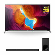 Sony Xbr-65x950h 65 Inch Tv 4k Ultra Hd Smart Led Tv With Hdr With Soundbar