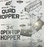 Athearn Ho Parts For 34' Open Top And 40' Quad Hoppers Steel Weights Part 90701
