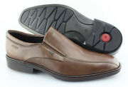 Menand039s Ecco And039illinoisand039 Brown Leather Loafers Size Us 9 Eur 43