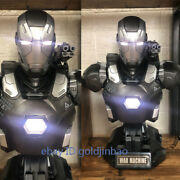 1/2 Scale Iron Man War Machine Bust Resin Model Painted Statue In Stock Led