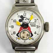 Pedre Old Mickey Mouse Watch Automatic Men's Limited Antique Used Excellent
