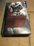 Microsoft Xbox One S Gears Of War 4 Bundle 2tb Crimson Red New No1681 Sealed