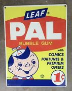 Pal Pal Chewing Gum Bubblegum 50s Candy Store Vintage Metal Advertising Sign Usa