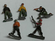 Vintage Miniature Lead Toy Soldiers Figures Lot Of 5