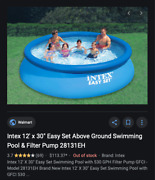 Intex 12' X 30 Easy Set Pool With Filter Pump/ Brand New Sealed In Box