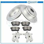 Rear Brake Rotors Calipers And Ceramic Pads For Acura Tl 1999 2000 20001 -2003
