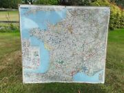 Large Michelin Map Of France With Index. On Pin Board Optional