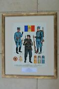 Romania - Military Table With Paintings Of Romanian Army Balkan Wars 1912-1913
