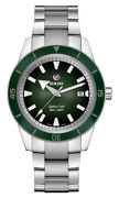 New Rado Captain Cook Automatic Stainless Steel Green Dial Menand039s Watch R32105318