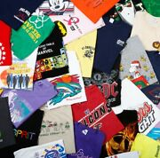 Lot Of 10 Random Menand039s Graphic Tees T-shirts All Size Large