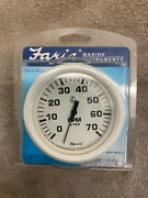 Faria Speedometer White 80mph Gauge Brand New