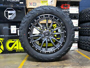 20x9 Fuel D680 Rebel Gray Wheels 32 At Tires 6x135 Ford F150 Expedition Tpms