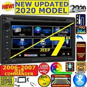 2006-2007 Jeep Commander Bluetooth Cd/dvd Usb Aux Car Radio Stereo Package
