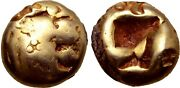 Worldand039s Oldest Coins Lydia Alyattes 610-560 Bc 1/12 Stater Rare Ancient Gold