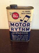 Hollingshead Whiz Motor Rythm 16 Oz Can Gas Station Sign Gas Pump Rare Oil Can