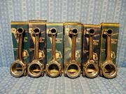 1935 1936 Chevrolet Nors Set 6 Babbited Connecting Rods .010 Undersize 601343