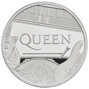 Great Britain 2020 Andpound10 Music Legends Queen Silver Proof 5 Oz Coin Box Coa