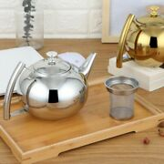 Tea Kettle Silver Gold Colors Teapots Stainless Steel Filter Hotel Coffee Pot