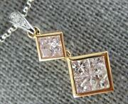 .93ct White And Pink Diamond 18kt White And Rose Gold By The Yard Journey Necklace