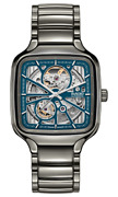 New Rado True Square Automatic Open Heart Blue Dial Menand039s Watch R27083202