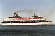 Chandris Celebrity Cruise Ship Century - Two Photos At Lisbon In 2005