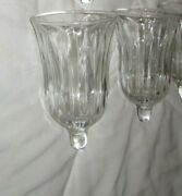 Set Of 17=vintage Clear Ribbed Glass Pegged Candle Votive Cups Home Interior
