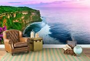 3d Purple Sky Marine Floral Self-adhesive Removable Wallpaper Murals Wall