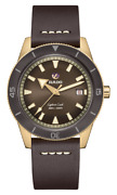 New Rado Captain Cook Auto Bronze Brown Dial Leather Band Menand039s Watch R32504306