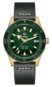 New Rado Captain Cook Auto Bronze Green Dial Leather Band Menand039s Watch R32504315