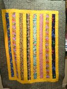 Hand Made Unique Childs 'pooh Bear, Flowers, Frogs, Cars' Quilt - New 48 X 69
