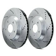 For Audi S8 2013-2018 Atl Autosports Atl-c33146-do Drilled Front Brake Rotors