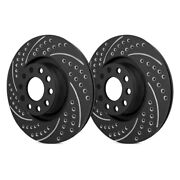 For Pontiac Grand Prix 94-96 Double Drilled And Slotted 1-piece Rear Brake Rotors