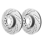 For Chevy Express 3500 01-02 Double Drilled And Slotted 1-piece Front Brake Rotors