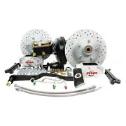 For Ford Mustang 68-69 Brake Conversion Kit Rallye Series Drilled And Slotted