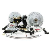 For Ford Mustang 67-69 Brake Conversion Kit Rallye Series Drilled And Slotted