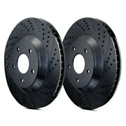 For Suzuki Sx4 07-13 Atl Autosports Double Drilled And Slotted Front Brake Rotors