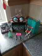 Mixed Lot Of Mattel Monster High Furniture And Accessories Some Incomplete