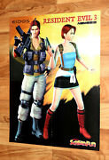 Resident Evil 3 Nemesis Jill Valentine And Carlos Oliveira / Crazy Taxi Poster Ps1