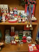 Lot Of Over 20 Old Christmas Ornaments And Silver Plated Avon Hallmark New /