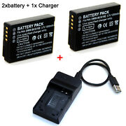 Battery / Charger For Dmw-bcg10e Panasonic Lumix Dmc-zs1 Dmc-zs3 Dmc-zs5 Dmc-zs6
