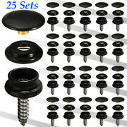 62pc Stainless Steel Canvas Screw Press Stud Snap Fasteners Kit Boat Cover New