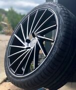 20 1av Zx1 Alloy Wheels And Tyres Black Machined 5x120 Fits Vw Transporter T5 T6