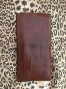 Vintage Christian Dior Leather Wallet And Checkbook Cover Cc Holder Worn Nicely