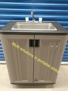 Portable Sink Mobile Handwash Full Size Contained Hot And Cold Water 110v